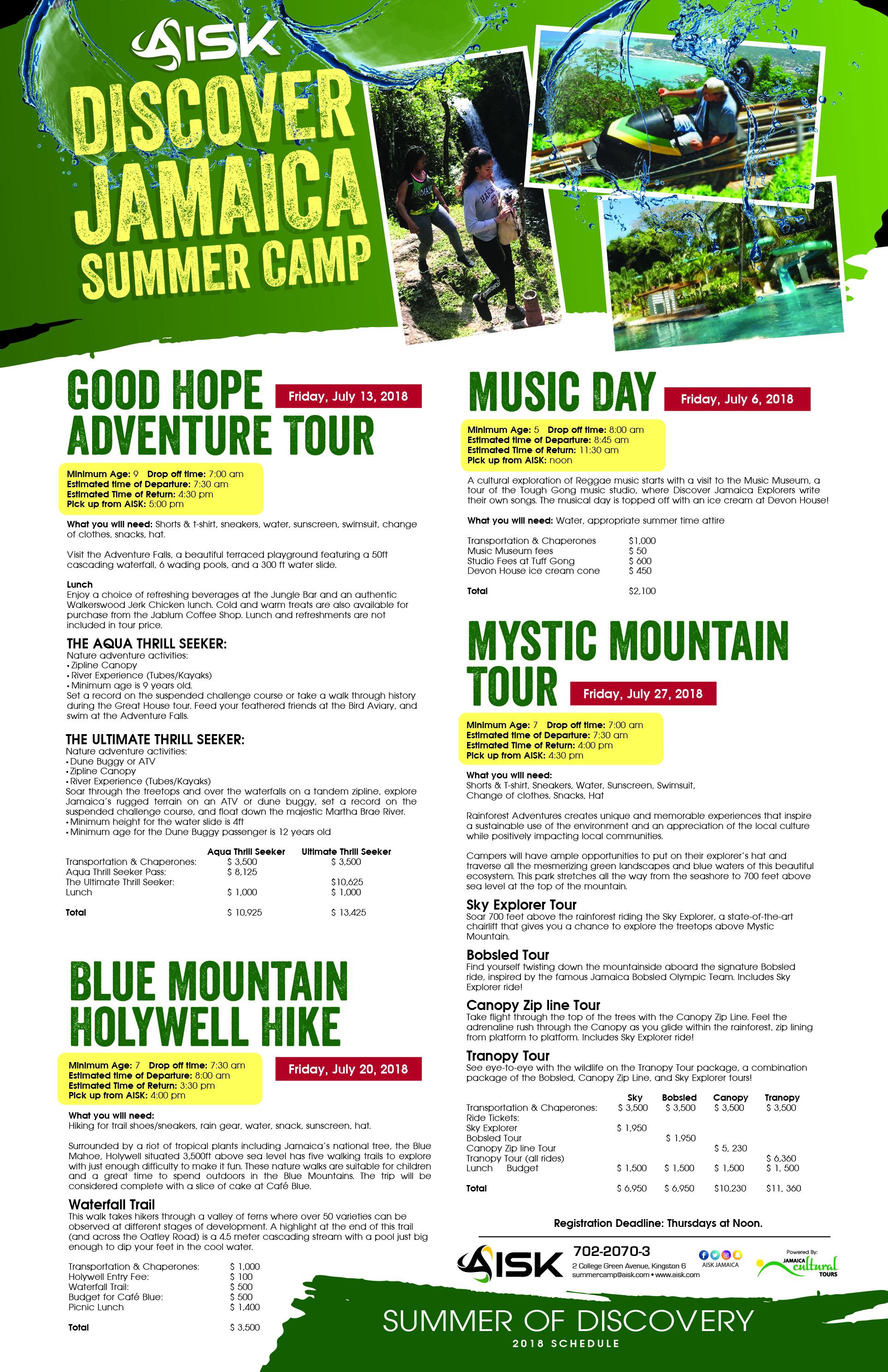 American International School of Kingston: Summer Camps 2018
